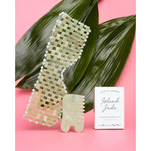 Load image into Gallery viewer, Island Jade Gemstone Gua Sha & Massaging Comb for skincare-Earth Harbor Naturals-Massaging comb + Gua Sha-voicenatural