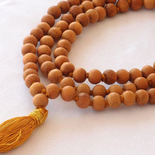 Load image into Gallery viewer, Sandalwood Mala with 108 Beads- prayer beads for meditation-OMSutra-Sandalwood Mala-voicenatural