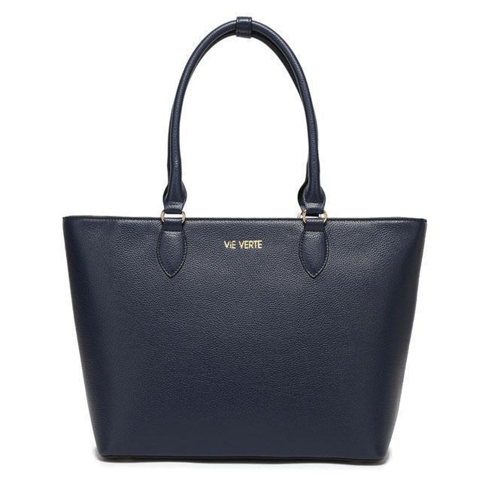 The Classic Tote - Navy Blue-Vie Verte-voicenatural