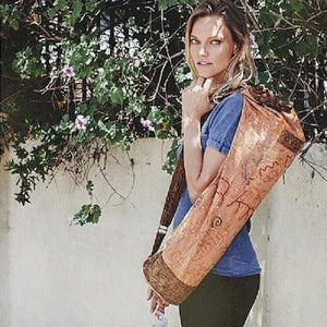 Yoga Bag - Hand Crafted Chic Bag to carry yoga mats | Strong and Stylish-OMSutra-Salmon-voicenatural