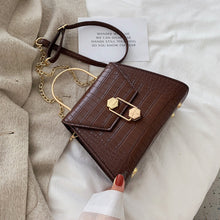 Load image into Gallery viewer, croc effect cross body bag