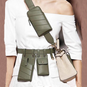 multi-pocket belt bag