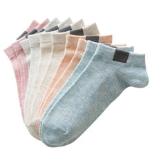 Load image into Gallery viewer, 5 Pairs  Comfortable Stripe Cotton Socks