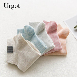 5 Pairs  Comfortable Stripe Cotton Socks