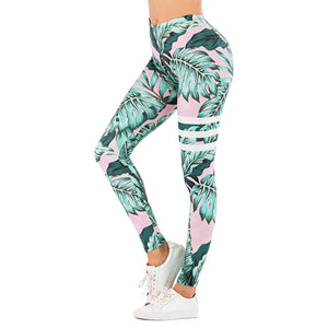 women leggings tropical print