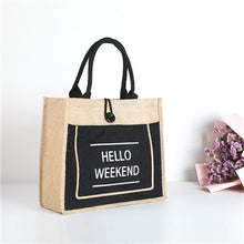 Load image into Gallery viewer, hello weekend tote bag