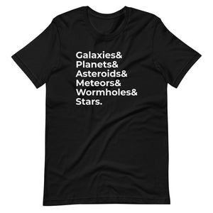 Galaxies & Planets List Tee
