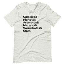 Load image into Gallery viewer, Galaxies & Planets List Tee