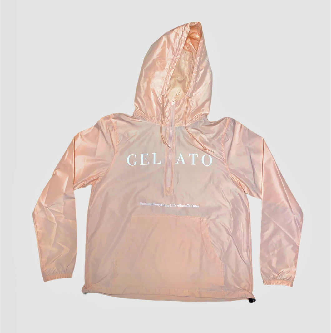 Blush Pink Lightweight Windbreaker (unisex)
