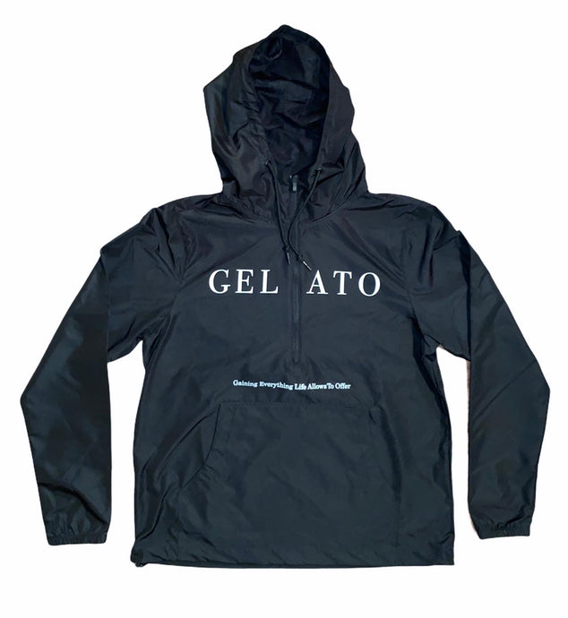 Black/White Lightweight Windbreaker