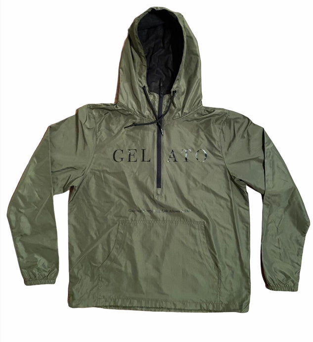 Olive/Black Lightweight Windbreaker