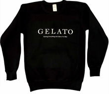 Load image into Gallery viewer, Gelato/Drippin' Cone Crewneck (Black)