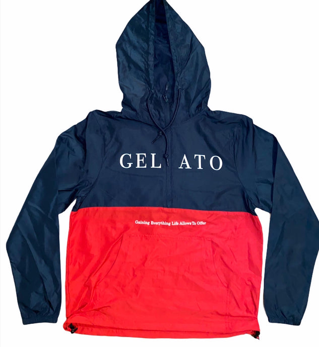 Navy/Red Lightweight Windbreaker