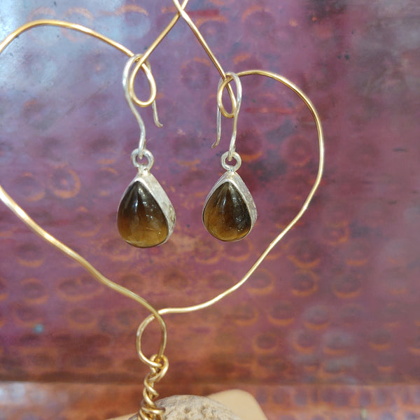 Energy Earrings: Tiger's Eye - multiple styles!