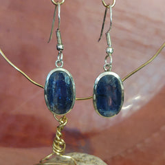 Energy Earrings: Kyanite