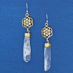 Lumarian Quartz Earrings