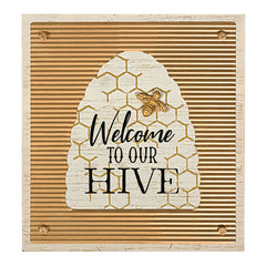 """Welcome To Our Hive"" Wall Plaque"""