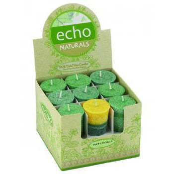 """ECHO NATURALS SINGLE-POURED, SCENTED VOTIVE"""