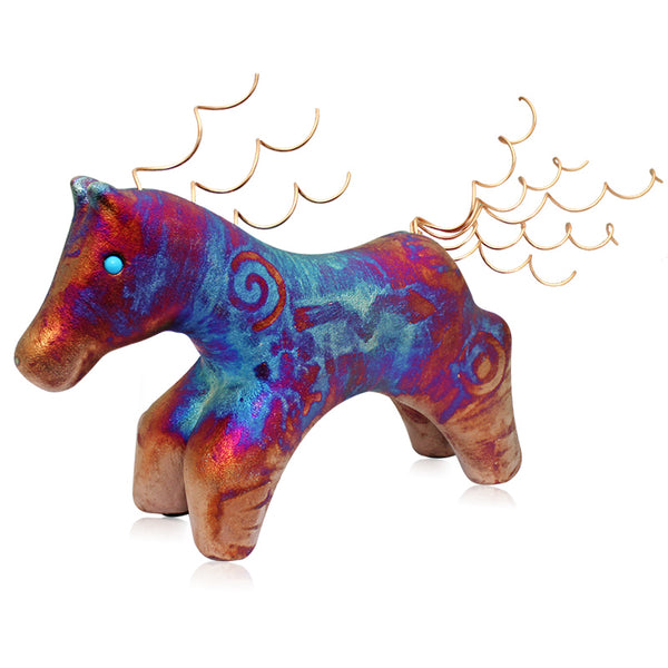 Spirit Pony with Turquoise & Copper