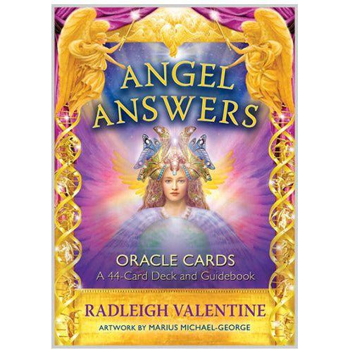 Angel Answers Oracle Cards A 44-Card Deck and Guidebook Radleigh Valentine
