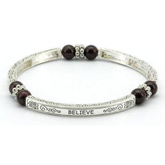 Zinc Alloy Bangle With Gemstones