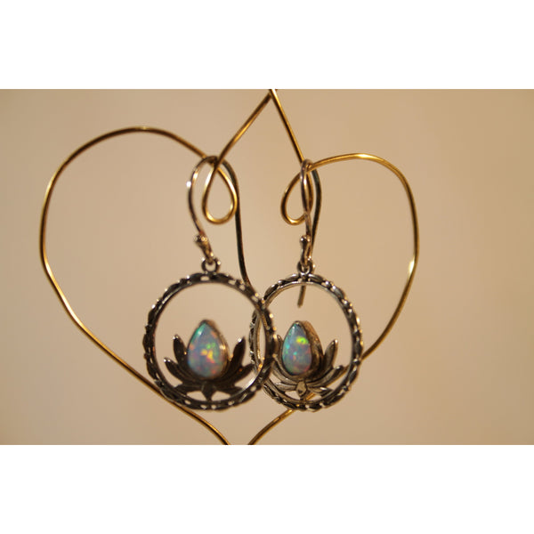 Energy Earrings: Gibson Opal