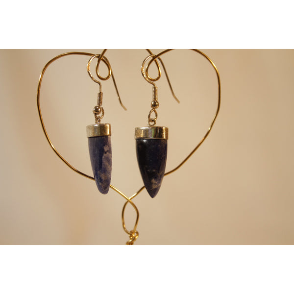 Energy Earrings: Sodalite