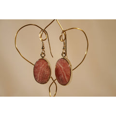 Energy Earrings: Rhodochrosite