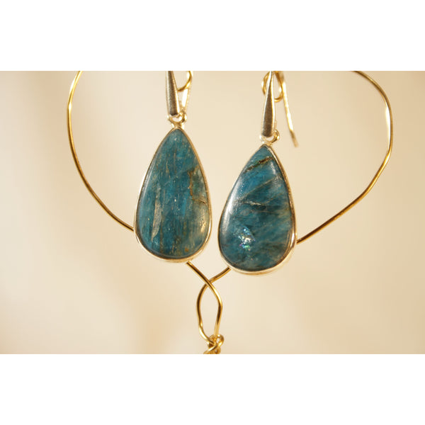 Energy Earrings: Apatite