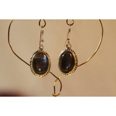 Energy Earrings: Labradorite