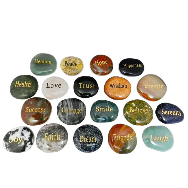 Intention Stones Engraved With Words