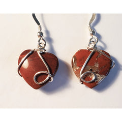 Wire Wrapped Jasper Earrings