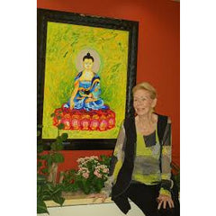 Louise Hay Painted Buddha