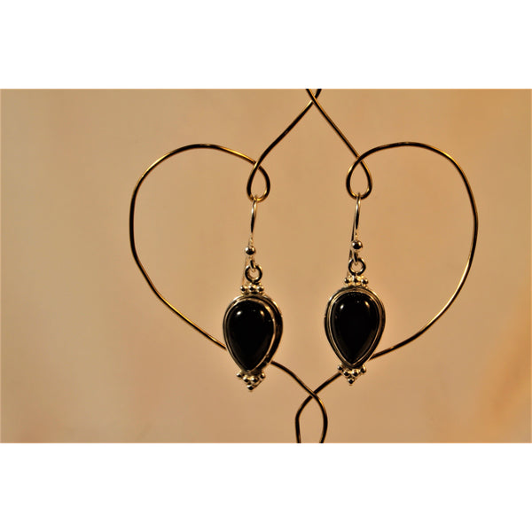 Energy Earrings: Onyx