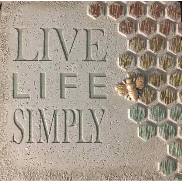 "Wall Plaque - ""Live Life Simply"""