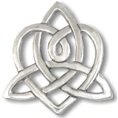 Sterling Silver earrings with the Triquetra / Trinity knot