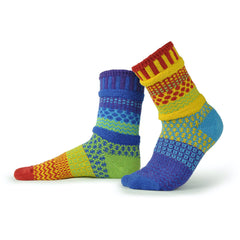 "Colorful ""Solmate Socks"" - Adult Sized Crew Style"