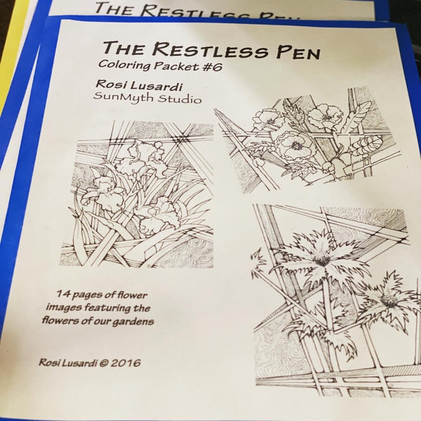 """The Restless Pen"" - Coloring Pages by Rosi Lusardi"