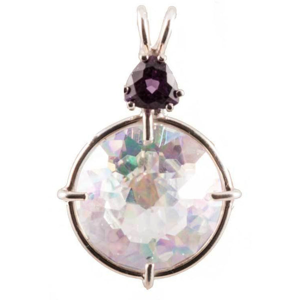 "Angel Aura ""Radiant Heart"" with Amethyst Crystal Necklace"