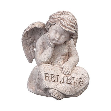 """Believe"" Garden Cupid"