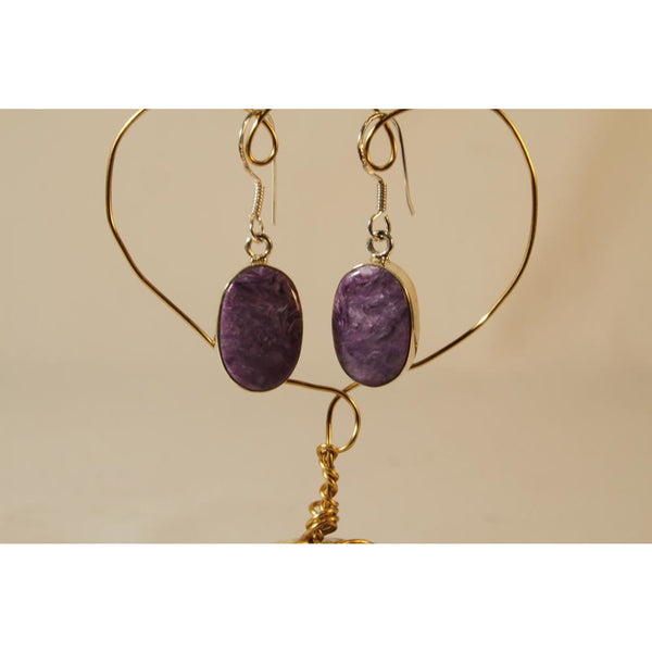 Energy Earrings: Charoite