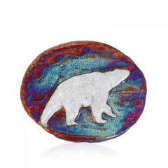 Raku Medallion Magnets