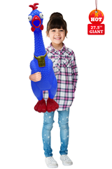 Giant Hug Me Chicken Blue - Over 2 Feet tall, Screams for up to 45 seconds! (Blue)