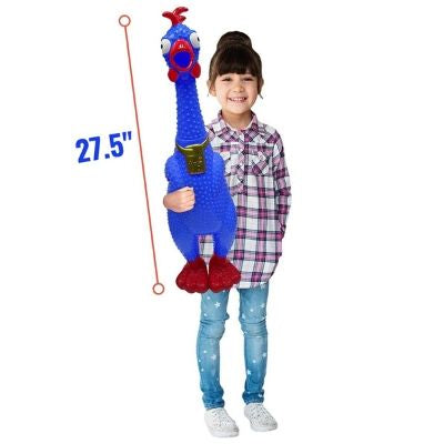 GIANT over 2 Feet tall Screaming Rubber Chicken - 45 Seconds Scream - Fast Free Shipping
