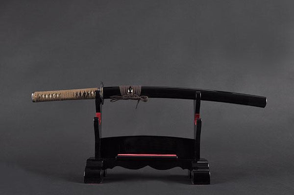 FULLY HAND FORGED FULL TANG BLACK JAPANESE WAKIZASHI SWORD