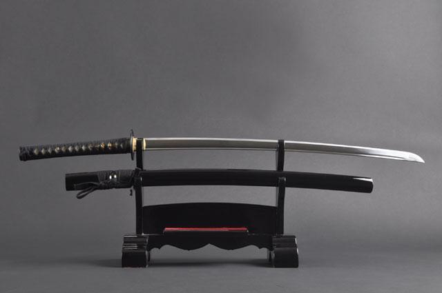 FULLY HANDMADE TOMOE CREST STAINLESS STEEL JAPANESE KATANA TRAINING SWORD - buyblade