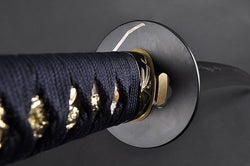 HMS-FULLY HAND FORGED PRACTICAL ORCHID JAPANESE KATANA SWORD