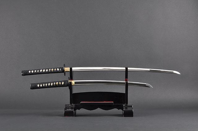 FULLY HANDMADE STAINLESS JAPANESE SAMURAI KATANA & WAKIZASHI TRAINING SWORDS - buyblade