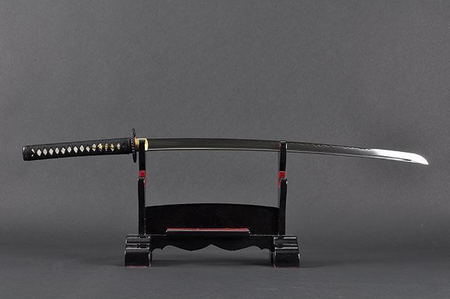 FULLY HANDMADE EMPIRE WHEEL CLAY TEMPERED JAPANESE SAMURAI KATANA SWORD - buyblade