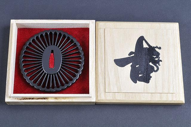 JAPANESE SAMURAI KATANA SWORD EMPIRE WHEEL TSUBA - buyblade